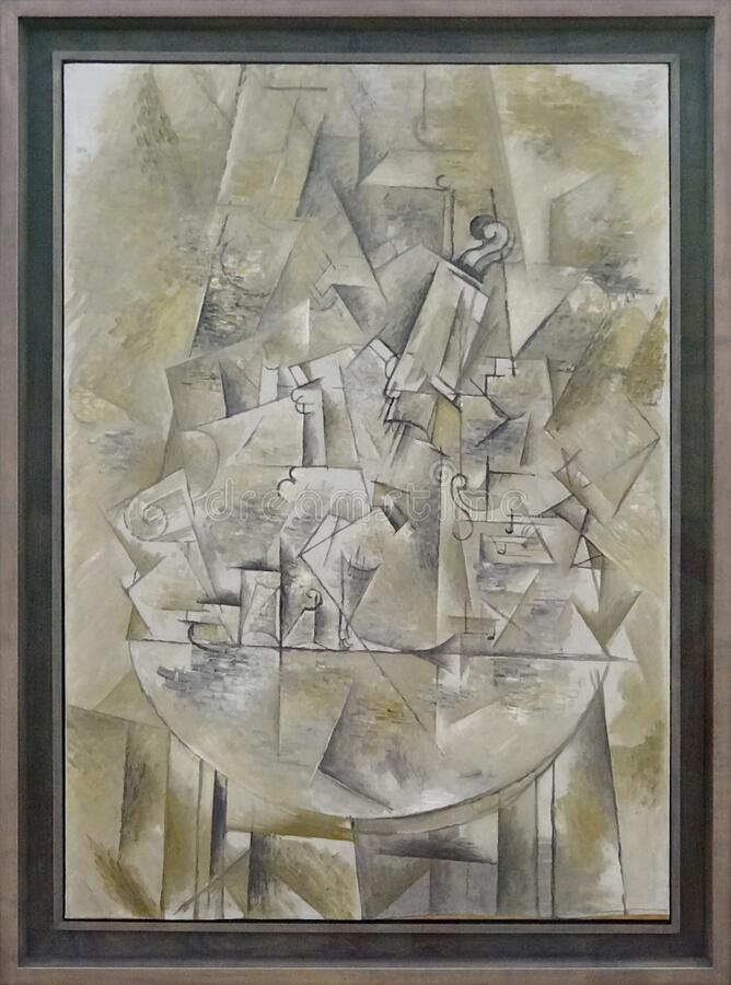 """Le guéridon"", Georges Braque, 1911. Centre Pompidou, Paris. stock photography"