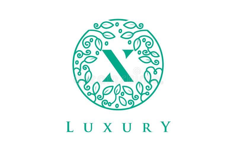 X letra Logo Luxury Logotipo dos cosméticos da beleza ilustração do vetor