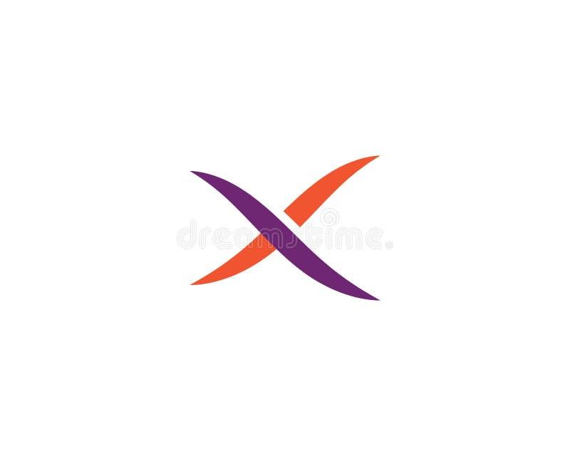 X letra Logo Template ilustração stock