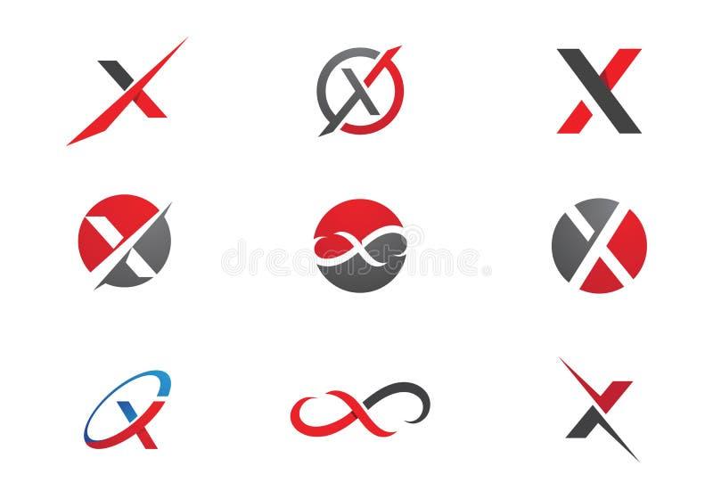 X letra Logo Template ilustração do vetor