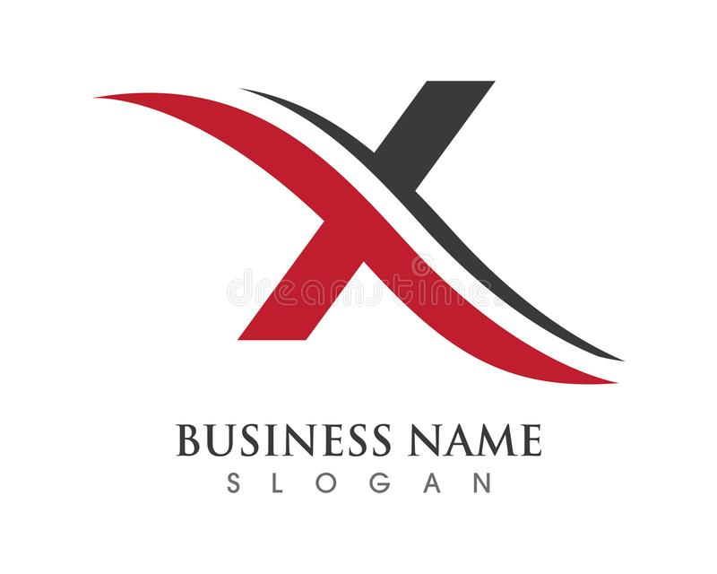 X Letter Logo. Business Template Vector icon stock illustration