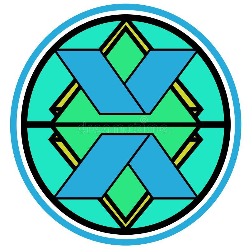 X letter in logo stock photo