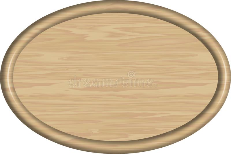 1x1.5 Maple Oval Sign Blank. A 1x1.5 ratio oval sign blank using maple wood as the substrate and ready for you to add text and images to customize stock illustration
