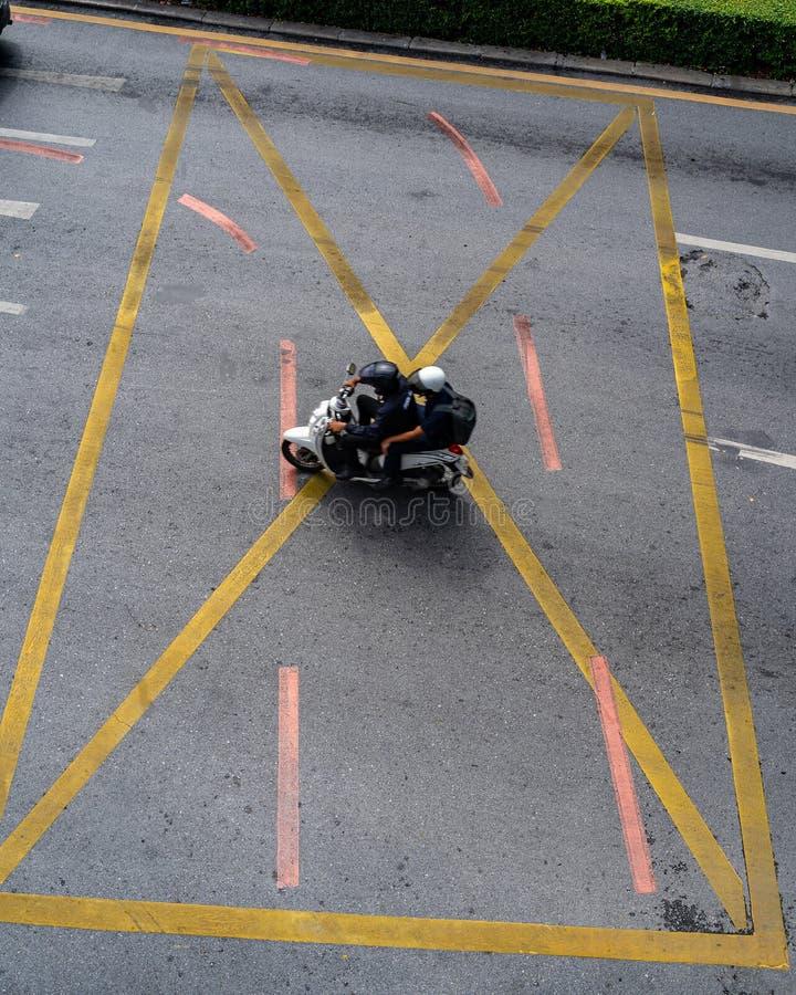 X marca la motocicleta del punto foto de archivo libre de regalías