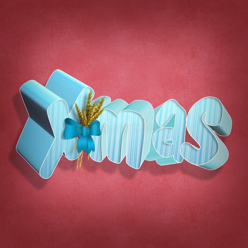 X-mas 3D text stock illustration
