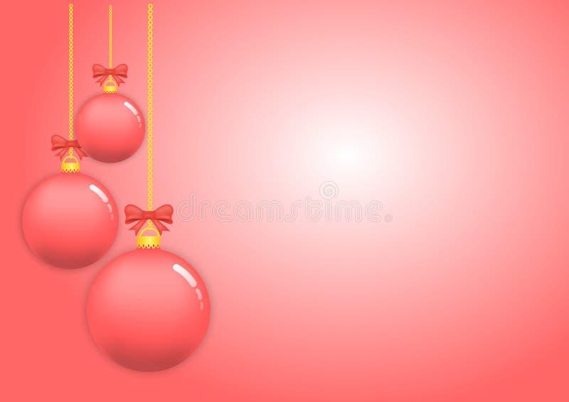 X-mas da bola do Natal e ano novo feliz ilustração royalty free
