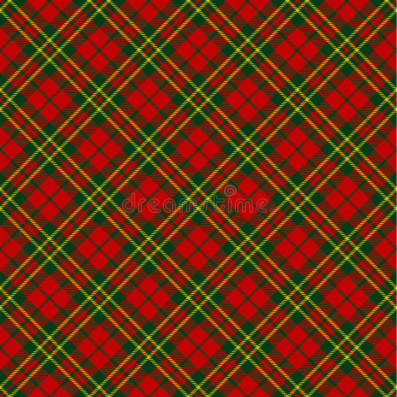 X-mas seamless tartan pattern royalty free illustration