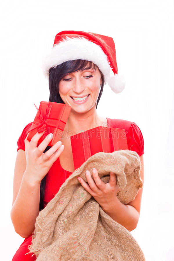 Download X-mas woman gift stock photo. Image of cheerful, happy - 10298712