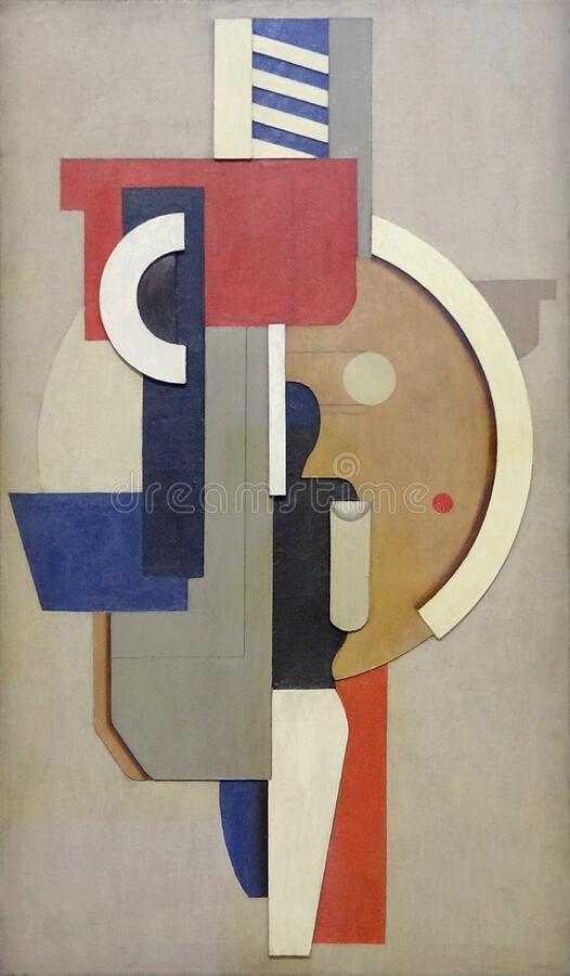 """Mauerbild mit kreis (tableau mural avec cercle)"", Willi Baumeister, 1923.. Centre Pompidou, Paris. royalty free stock photography"