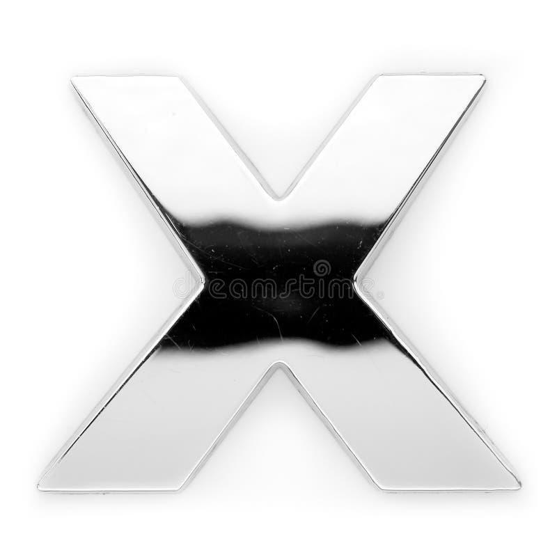X - Metal la lettera fotografia stock