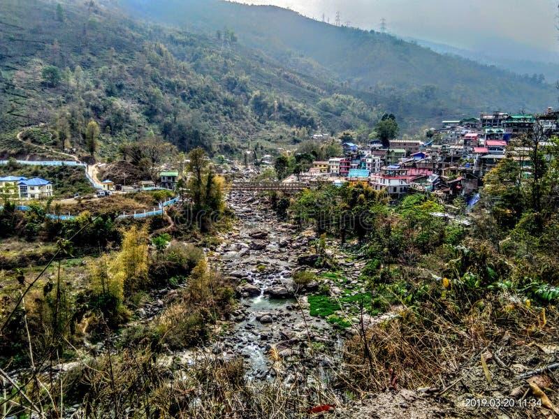 & x22; Mijn hometown& x22; Bijanbari royalty-vrije stock afbeelding