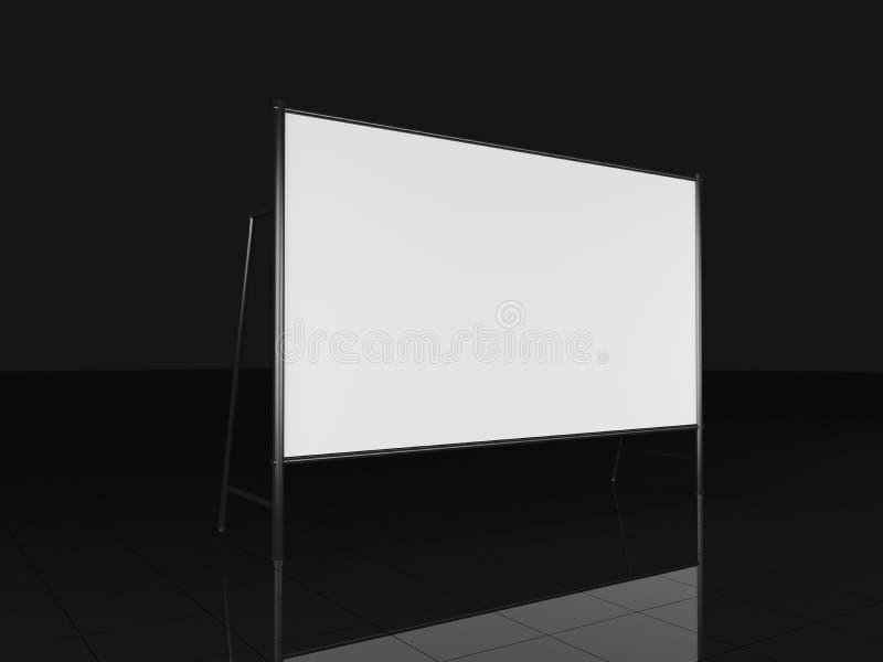 2200x4000mm mellanrum som annonserar det utomhus- banret på system för metallbråckbandkonstruktion på en vit bakgrund framförande arkivbild