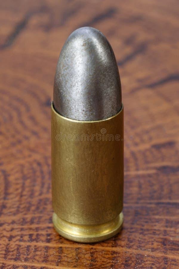9x19mm Parabellum une cartouche d'armes ? feu qui a ?t? con?ue par Georg Luger et a pr?sent? en 1902 pour les armes allemandes photo libre de droits