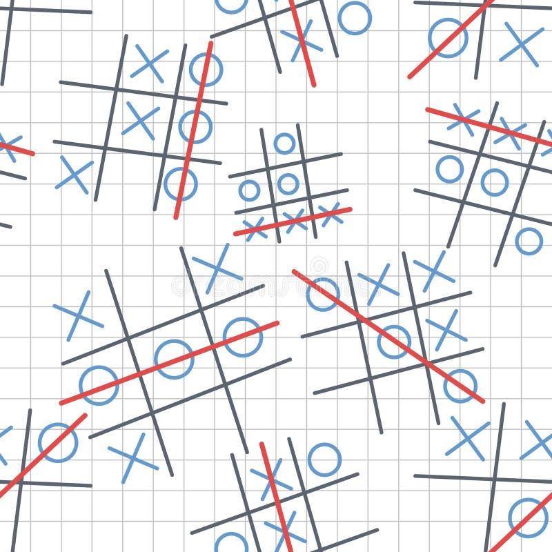 X och nolla-bakgrund vektor illustrationer