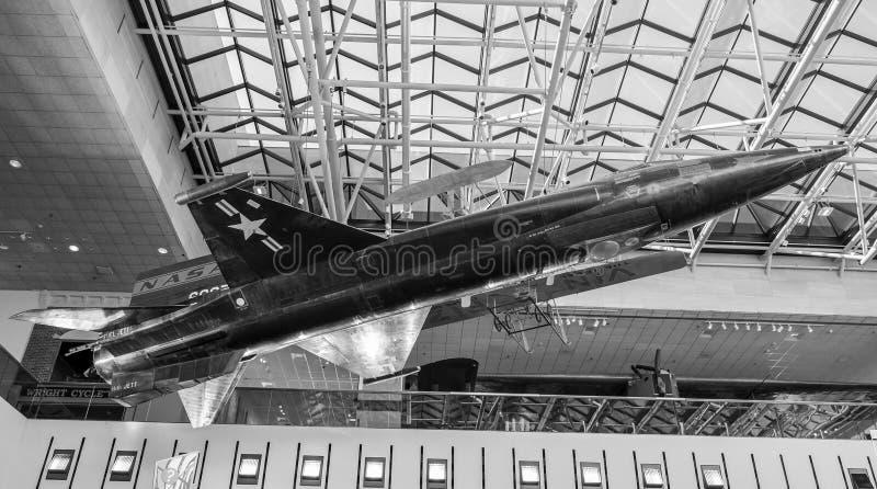X-15 os aviões hipersônicos, ` s do mundo equiparam o mais rapidamente #1 plano imagem de stock