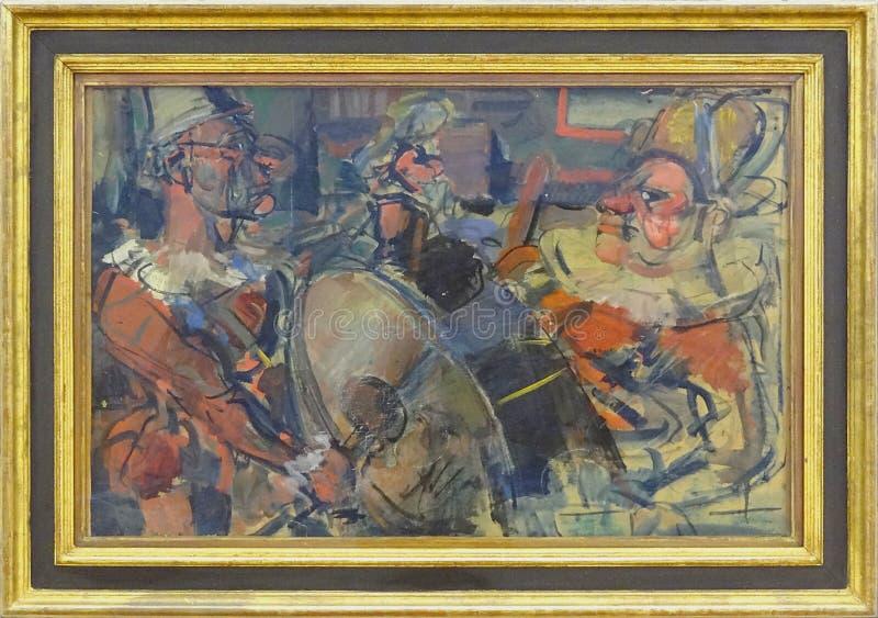"""""""parade"""", Georges Rouault, 1907-1910. Centre Pompidou, Paris. Free Public Domain Cc0 Image"""