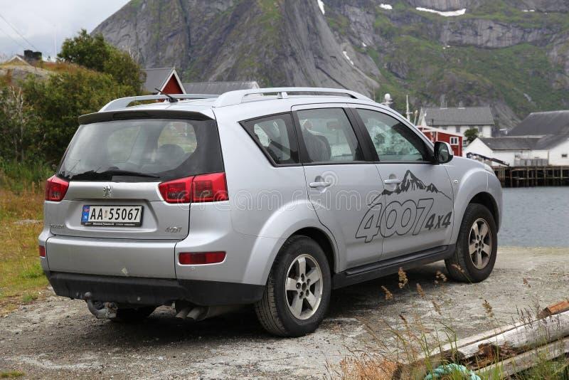 4x4 Peugeot αυτοκίνητο στοκ εικόνες