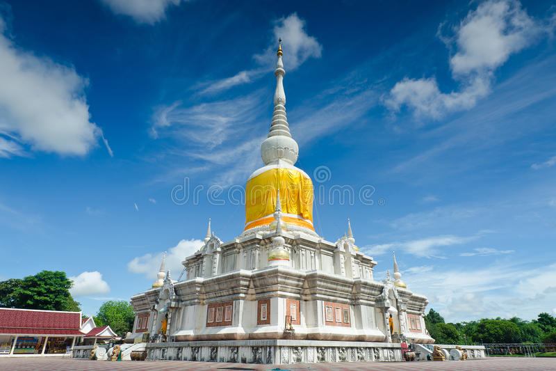 & x22; Phra那个Na Dun& x22;是地标MahaSarakham,泰国 免版税库存图片