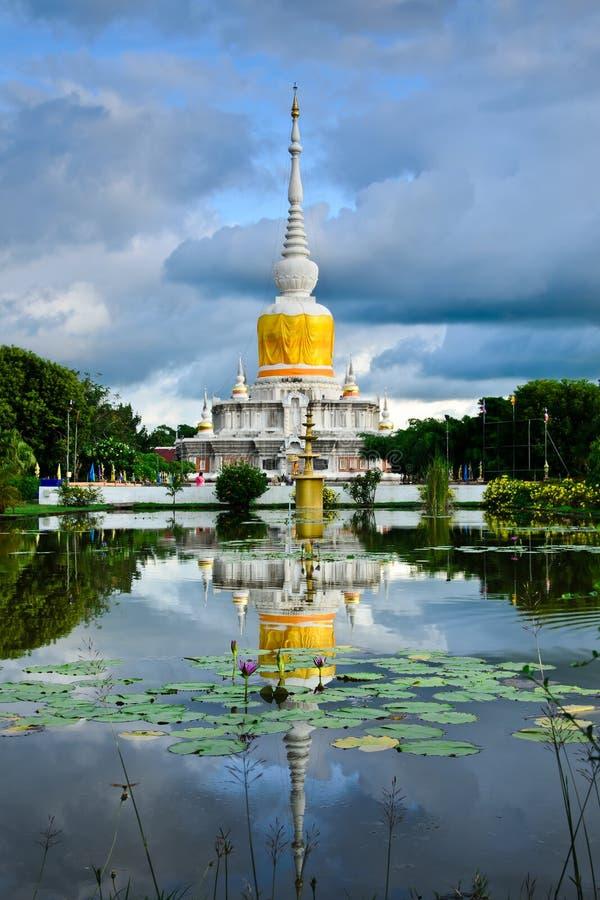 'Phra That Na Dun' is Landmark MahaSarakham ,Thailand. Bhudda temple Stupa Maha Sarakham landmark,Temple blue sky in Maha Sarakham, Thailand; Phra That Na Dun ( stock photography