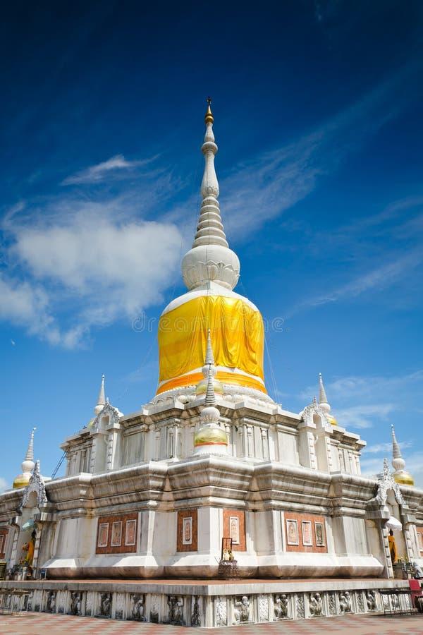 'Phra That Na Dun' is Landmark MahaSarakham ,Thailand. Bhudda temple Stupa Maha Sarakham landmark,Temple blue sky in Maha Sarakham, Thailand; Phra That Na Dun ( royalty free stock photos