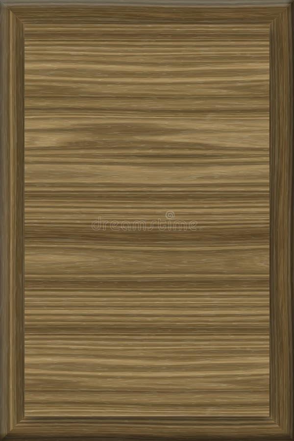 1x1 Placa quadrada de madeira do sinal de 5 nozes foto de stock
