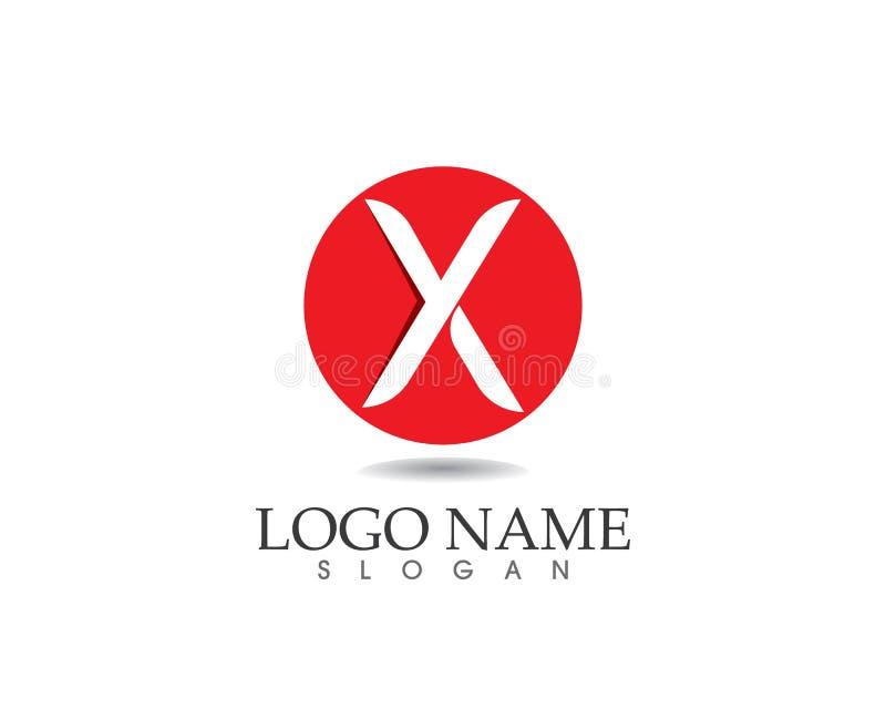 X progettazione dell'icona di vettore di Logo Template della lettera illustrazione vettoriale