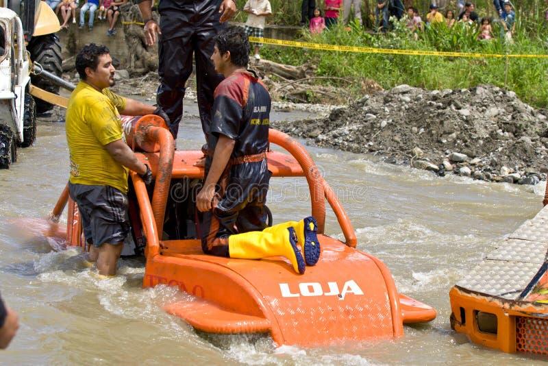 4X4 raceauto's door modder in Ecuador stock fotografie