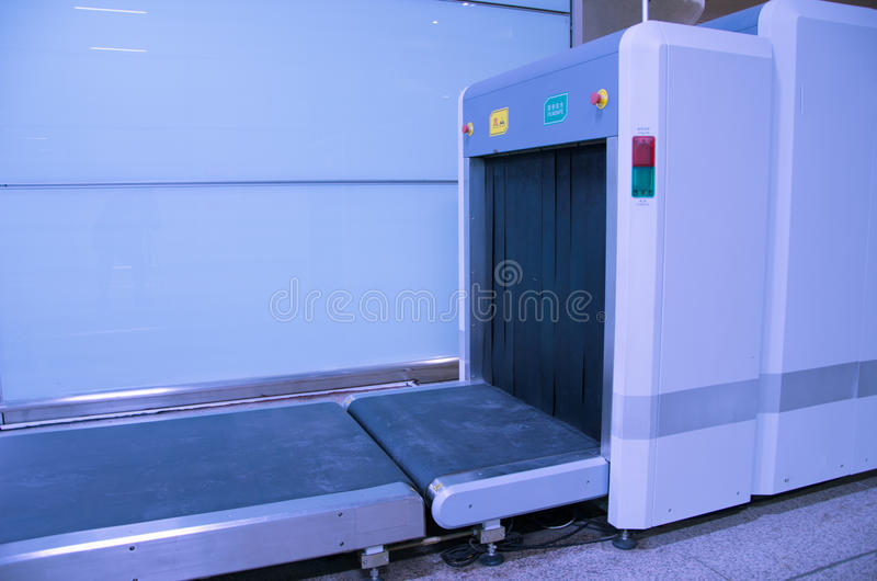 X Ray Baggage Security Check Machine Stock Image Image
