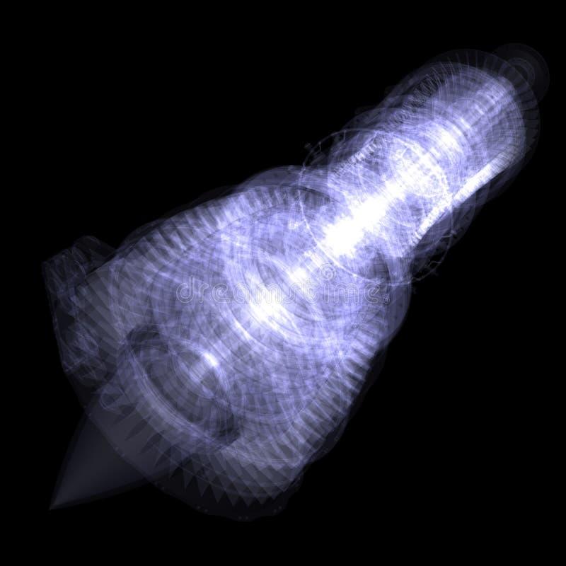 X-ray concept jet engine stock illustration