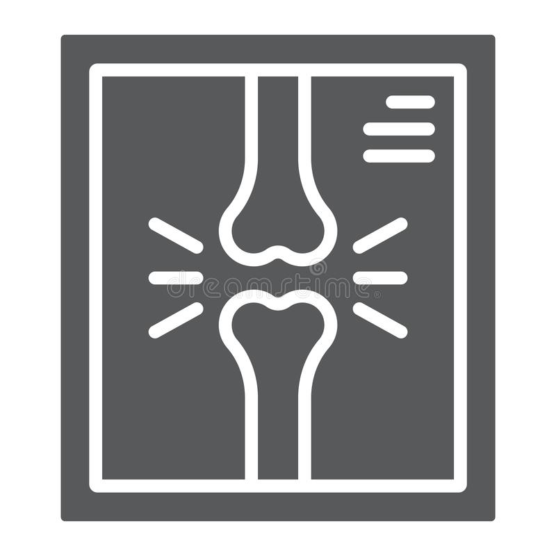 X-ray glyph icon, medicine and clinical, radiology vector illustration