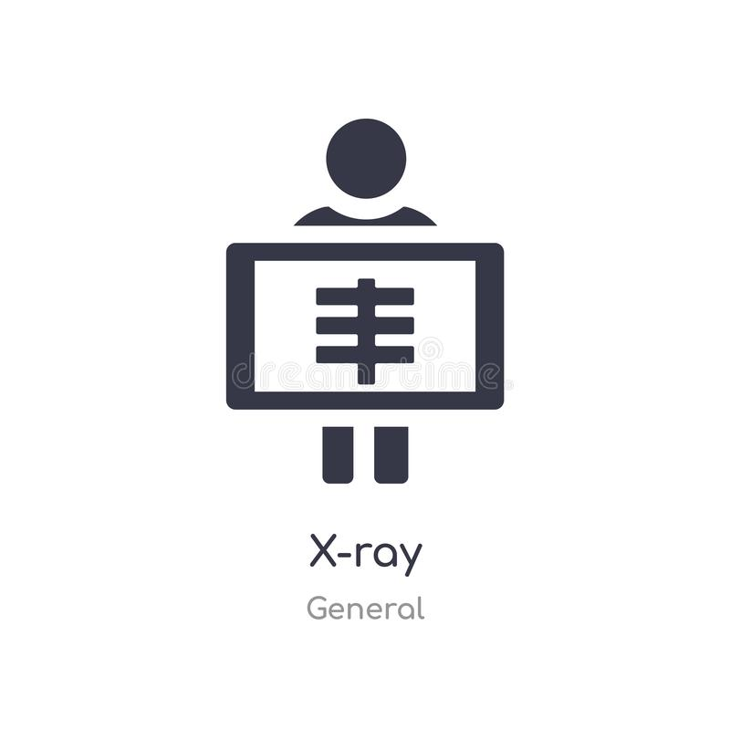 x-ray icon. isolated x-ray icon vector illustration from general collection. editable sing symbol can be use for web site and vector illustration