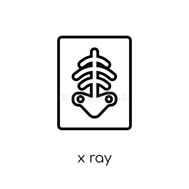 X Ray Icon In modern vlak lineair vectorröntgenstraalpictogram op wit royalty-vrije illustratie