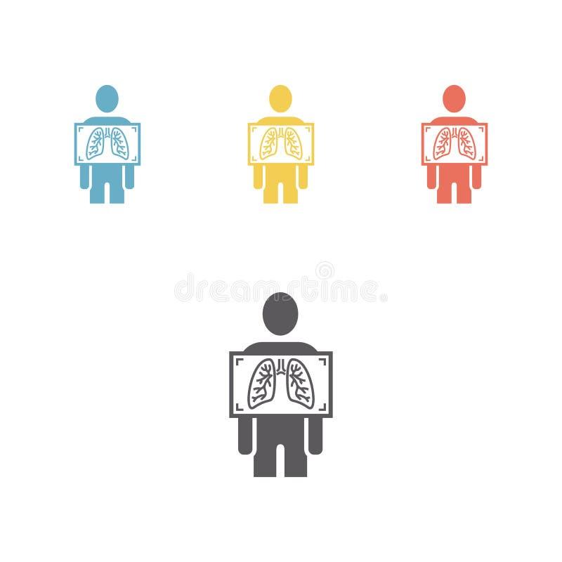 X-ray icon set royalty free illustration