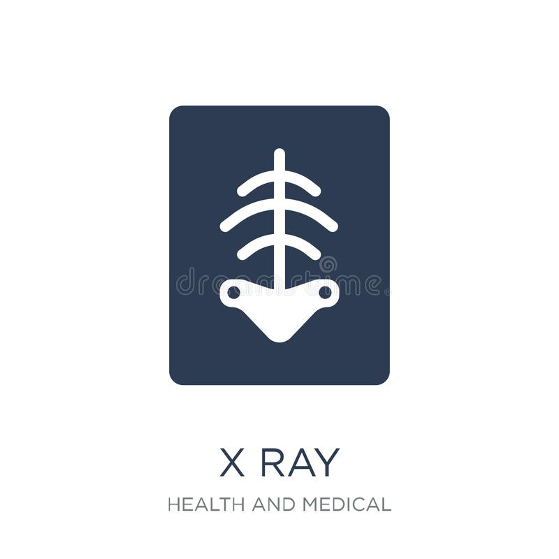 X Ray Icon In vlak vectorröntgenstraalpictogram op witte achtergrond Fr vector illustratie