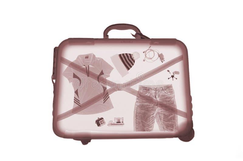 X-ray luggage stock photo