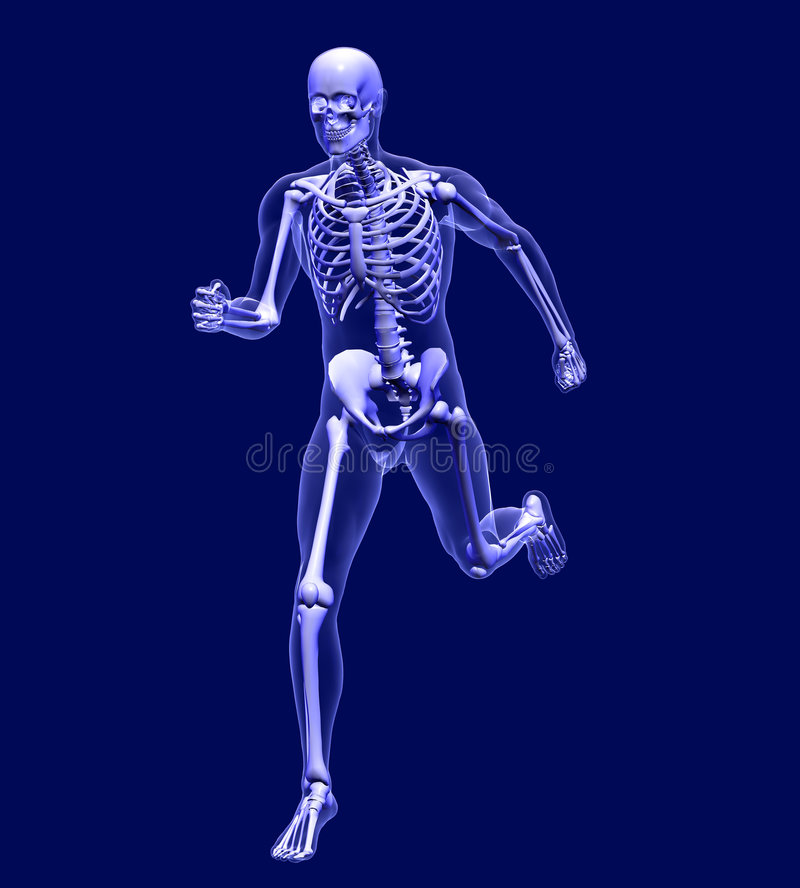 Free X-ray Man Running -blue- With Clipping Path Stock Photo - 536170