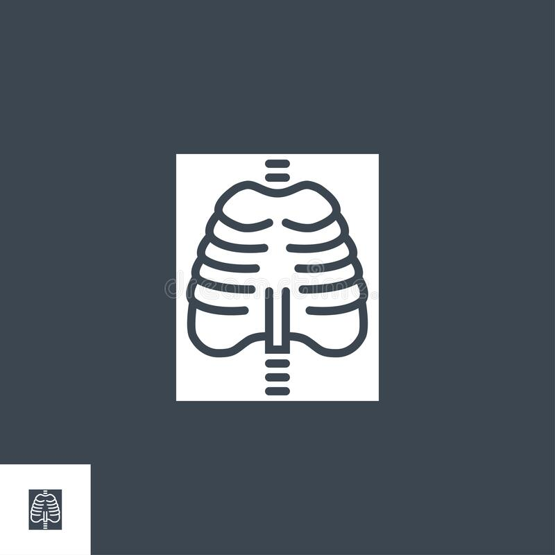 Free X-ray Related Vector Glyph Icon. Stock Image - 213090851