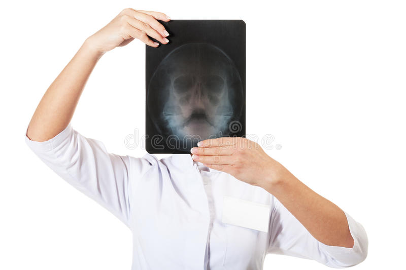X-ray specialist. On isolated white stock photo