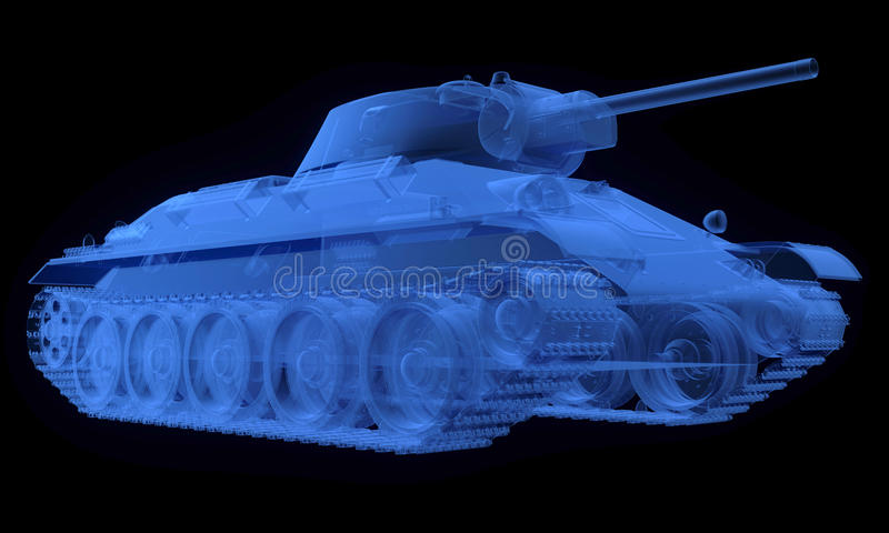 Download X-ray Version Of Soviet T34 Tank Stock Illustration - Image: 31743712