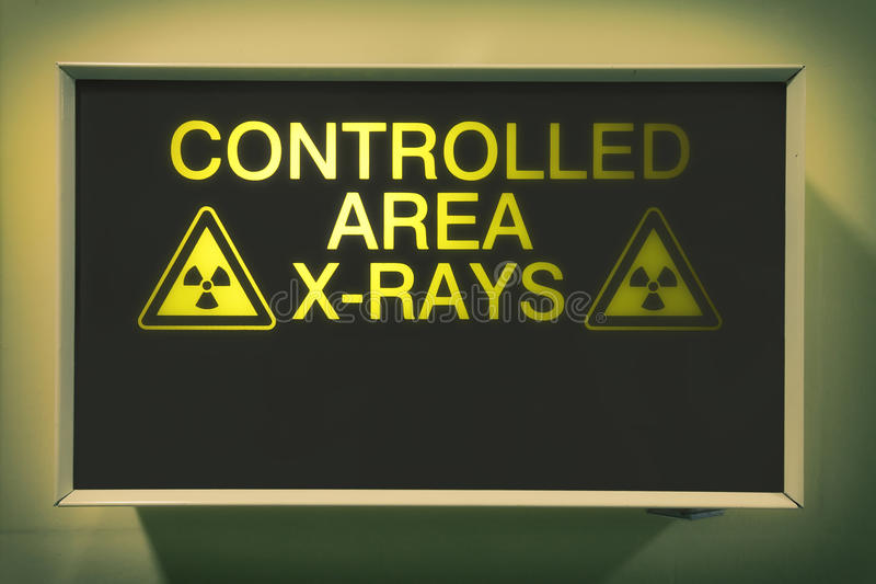 X-rays. Controlled area x-rays lightbox in hospital royalty free illustration