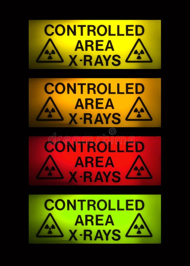 X-Rays sign in 4 colours royalty free stock images