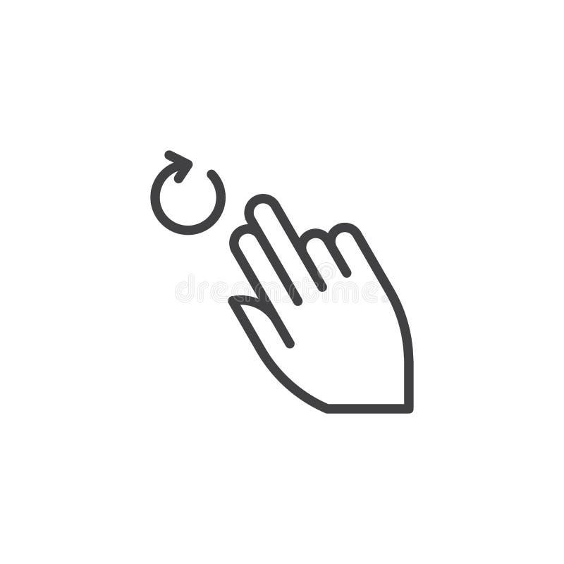 2x roterar linjen symbol stock illustrationer