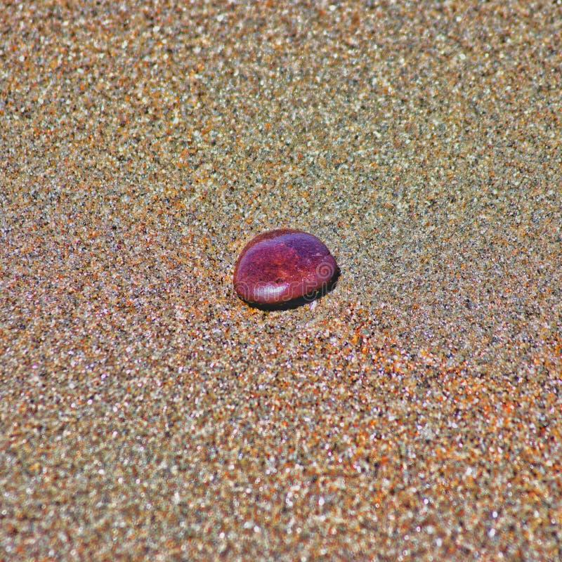 It& x27; s ein Kiesel auf dem Sand lizenzfreies stockfoto