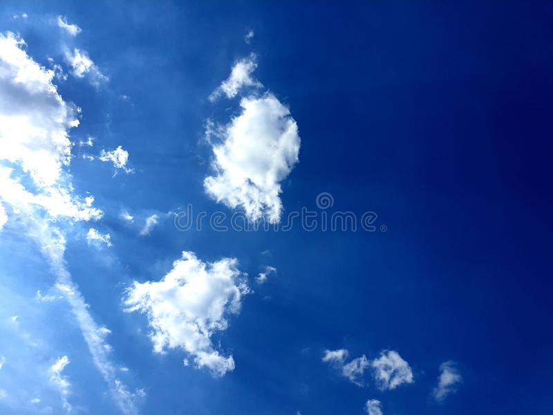 It& x27;s starting to feel a bit like summer. Sky, blue, bkuesky, summertime, clouds, white, blueandwhite royalty free stock images