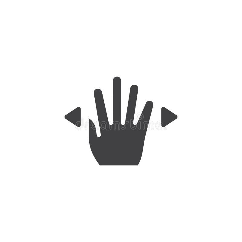 4x separ? el icono del vector stock de ilustración