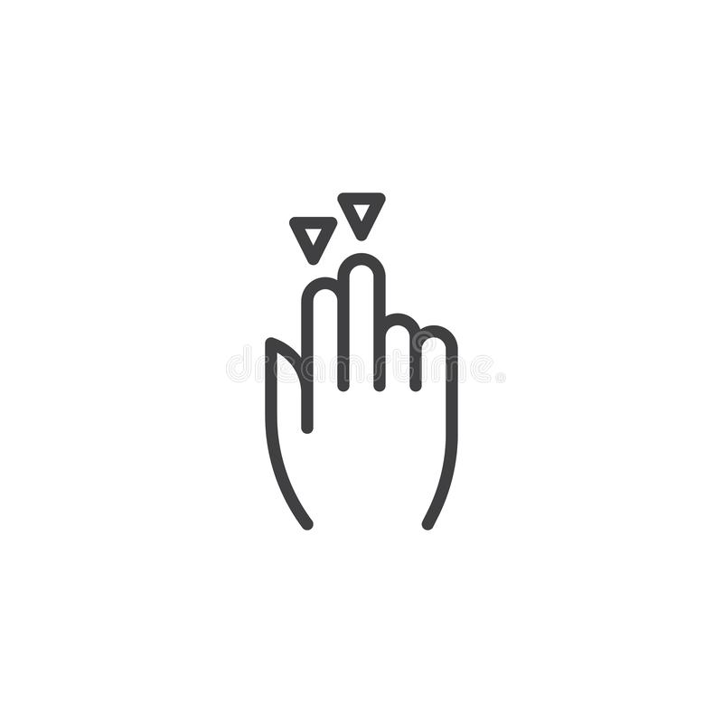 2x släpar ner linjen symbol vektor illustrationer