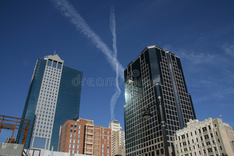 X sopra Kansas City immagini stock