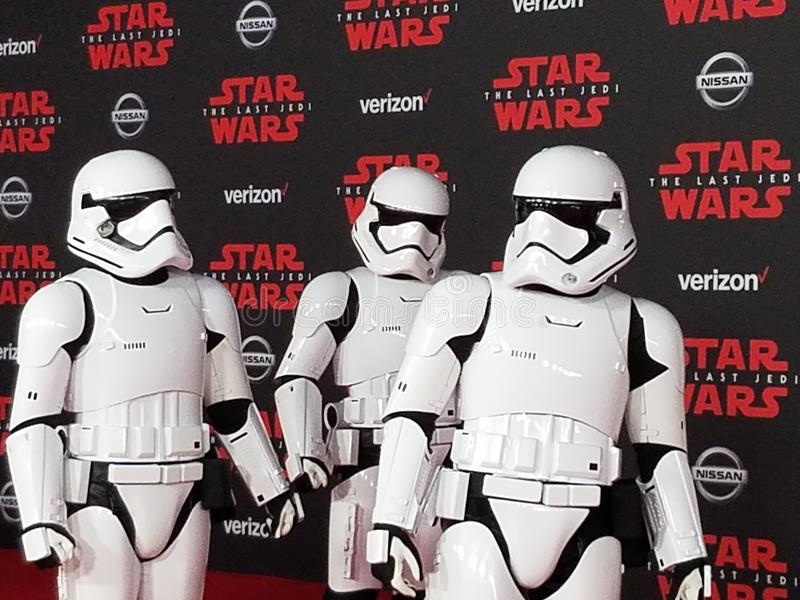 & x27;Star Wars: The Last Jedi& x27; World premiere. Held at the Shrine Auditorium in Los Angeles, USA on December 9, 2017 royalty free stock photo