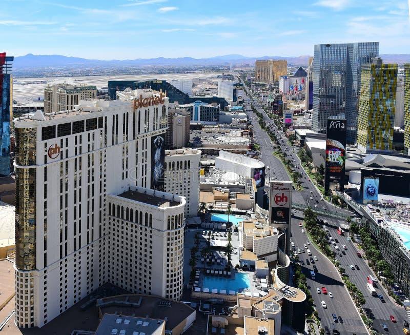& x27; Strip& x27; w Vegas Patrzeje Southward zdjęcia stock