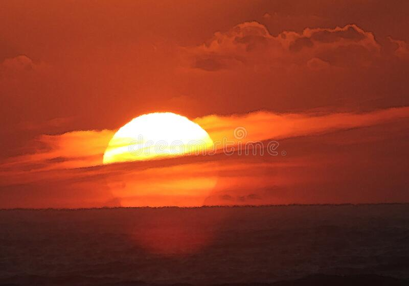(10-30-2016) sunrise at high island, jefferson co, tx (6) royalty free stock image